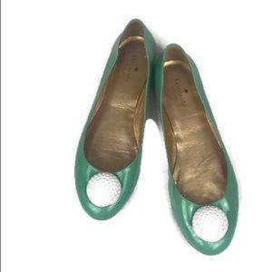 Kate Spade Green Golf Ball Fun Ballet Flats